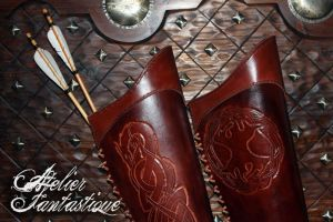 Leather quiver by AtelierFantastique