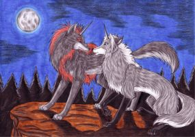 in the moonlight - for Tavaris by WolfOfDarkness