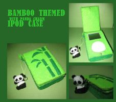 bamboo and panda ipod case by emiliciuos