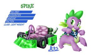 PonyKart - Spike by Blue-Paint-Sea