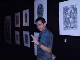 Me with my works at Kulay-Diwa by gromyko