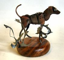 Hound Sculpture by Angi-kat
