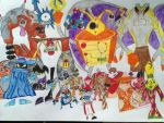 Villians in Rayman by The-Angel-D