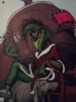 The Grinch, this year's Christmas artwork by Monstermadness18