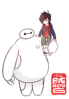 Big Hero 6 - Hiro and Baymax by Dai-kunn