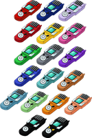Digimon Xros Wars Digivice - XrosLoader HD + Lines by NelaNequin