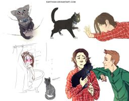 [ SPN ] Crowley cat by EarthXXII