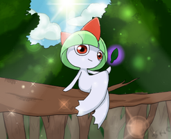 Ralts by Silver-Skie