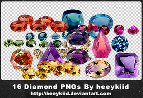 16 Diamond PNGs By heeykiid by heeykiid