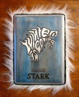 House Stark 2.0 plaque- blue version by RFabiano