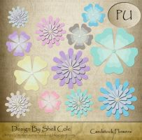 Scrapbook - Cardstock Flowes by shelldevil