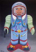 Apollo spaceman by gibsart