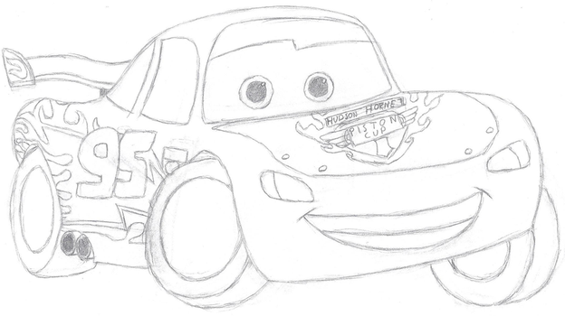 Cars: Lightning McQueen Sketch by Bowser-The-Second