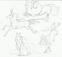 Kitsune1 Sketches by LeeOko