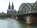 Rhine river and the Cathedral by BloodyBetty666