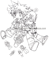 KH: sora and roxas chibi's by Kawaii-Lisa-chan