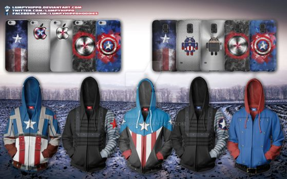 Captain America Hoodies 2 by lumpyhippo