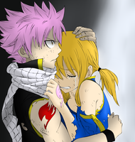 Natsu and Lucy by brettyboy14