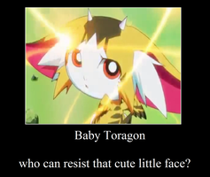 yugioh zexal: Baby Toragon by AmbertheLunarWolf