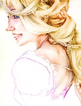 Rapunzel wip 2 colo by YannWeaponX