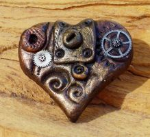Mini Steampunk Heart Brooch2 by ValerianaSolaris