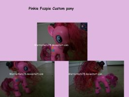 Five nights at Pinkie's: Pinkie Fazpie custom pony by WarriorKatz78