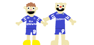 Jiatas and Ed in Chelsea Kits by HTF-432