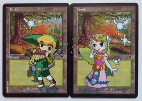 Forest cards, feat. Link and Zelda (Wind Waker) by Toriy-Alters