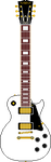 Les Paul Style Guitar (White) by AloneAgainstPixels
