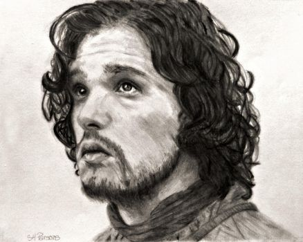 Jon Snow in Game of Thrones by shuckaby