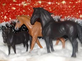CollectA horses bring the festive mood to you by Drakulka