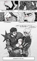 Hawke and Fenris -cold by DanjiDoodle