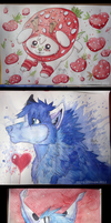 Strawberry Dog . Space Fur . Predator by Strawberry-Loupa