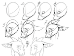 Dragon head quick tut by Shiro-Daemon