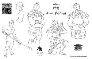 Clean-Up Modelsheet2 (Mulan as Ping) by dagracey