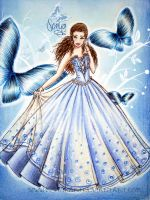 butterfly princess-dress design by monakadaj