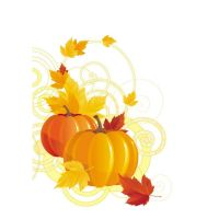 Beautiful Floral art with Pumpkins and leaf Vector by cgvector