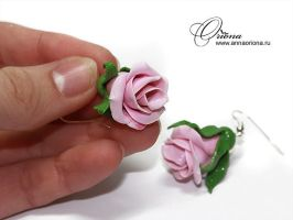 Earrings 'Rose' by OrionaJewelry