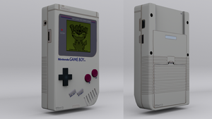 3D Original Gameboy - Pokemon Yellow by CrazddArt