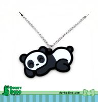 Sleepy Panda Necklace by Strange-1