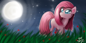 Pinkamena in the Dark by SkyStarr