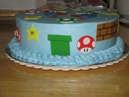 Mario and Luigi cake-side 1 by Sumrlove