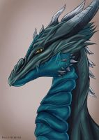Viri the Lovely Dragon by SolistoSketch