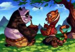 Po and Tigress having lunch by Shira-hedgie