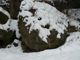 snow stone stock by Mihraystock