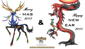 Merry X-mas 2013 ~ Happy New Year 2014 animated by Pokemon-FR