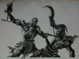 God of War 2 Drawing by Chriluke