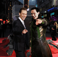 Tom and Loki at 'Thor 2' premiere by Taitiii
