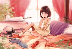 meifeng on the bed by nancy0039