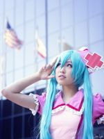 PMX Love Ward Miku by iKanji